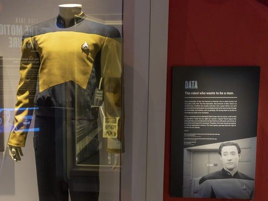 """Data uniform worn by Brent Spiner in """"Star Trek: The Next Generation."""""""