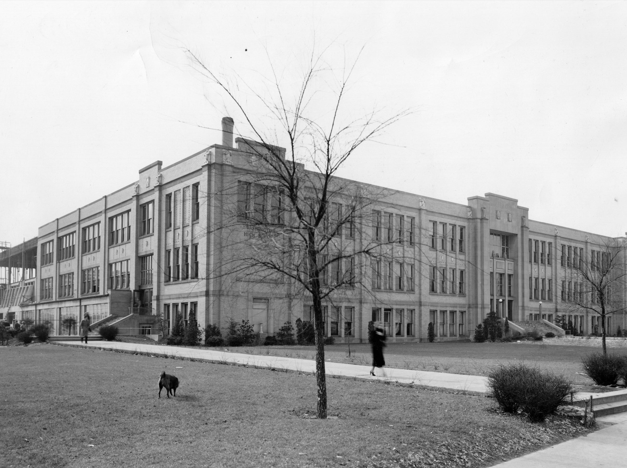 George Washington High School in December 1937.