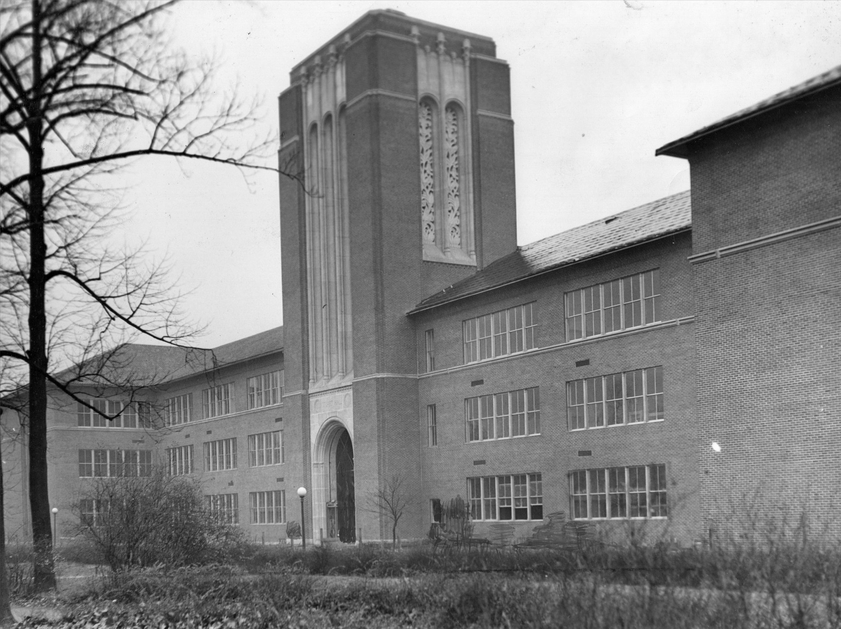 The Milo H. Stuart building n the campus of Arsenal Tech High School was built with a Public Works Administration grant in 1939.