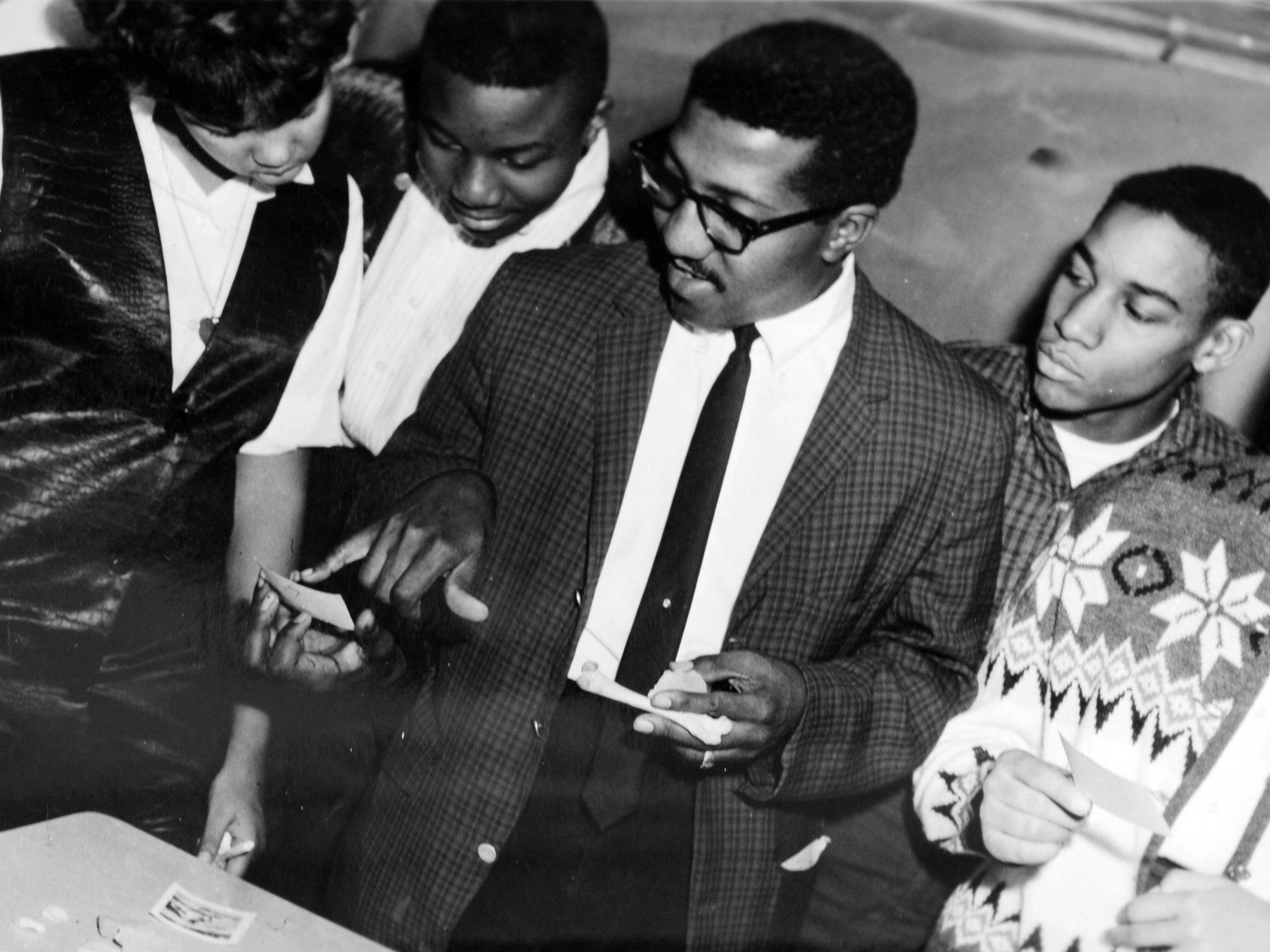 Local historian and former professor Stanley Warren, 78 of Indianapolis, in the mid 1960's while teaching at Crispus Attucks High School.