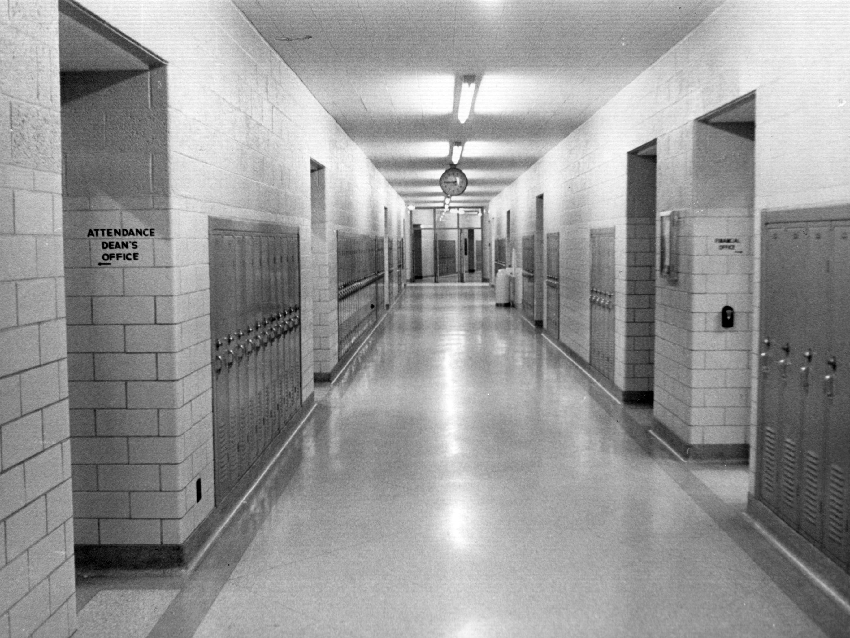 Empty halls of the Emmerich Manual High School in 1972.