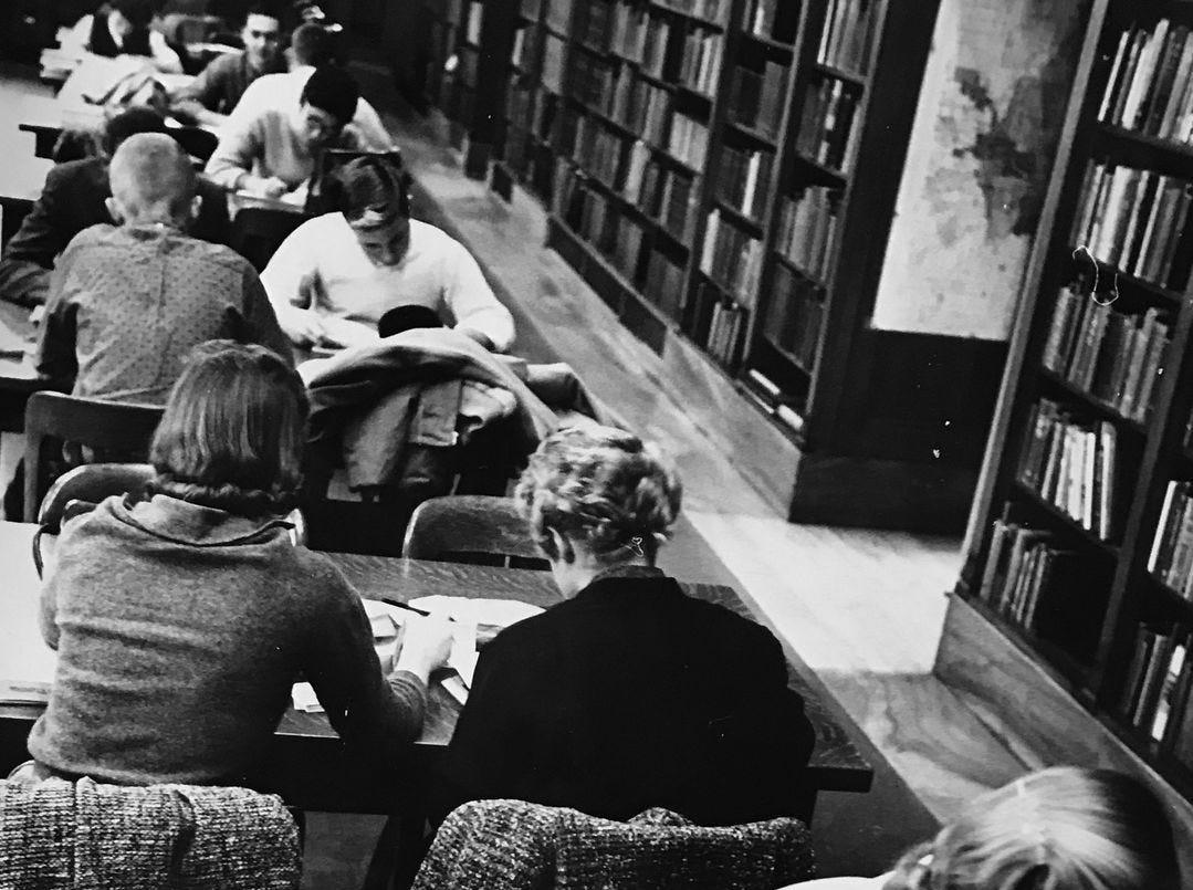 Broad Ripple high School library in 1959.