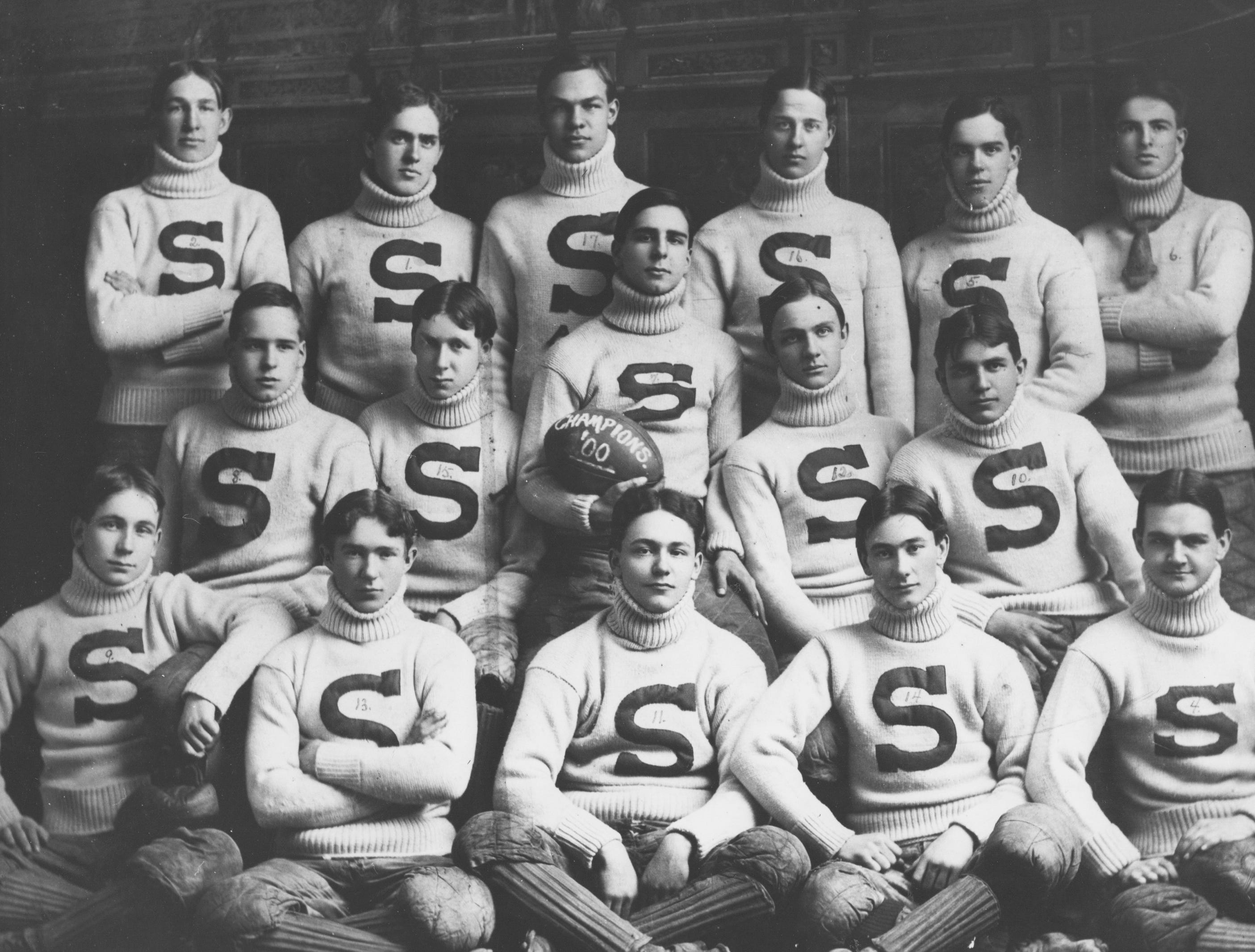 Shortridge High School football team in 1900.