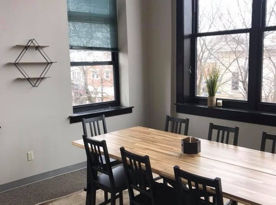 The Cowork Collective, a new coworking space founded by Iowa City Moms Blogger Sara Meehan, opens Monday Jan. 4, 2019, in downtown Iowa City.