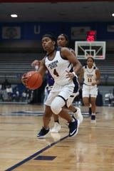 Jackson State guard Christina Ellis drives the lane during a game against Alcorn State on January, 12, 2019 at the Lee. E. Williams Athletic and Assembly Center in Jackson. Ellis has adjusted to head coach Tomekia Reed's system and is playing better as a result