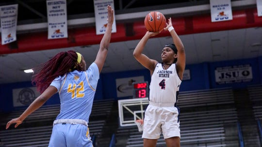 Jackson State guard Christina Ellis' (No. 4, pictured) season-high 26 points in a win over Grambling last week showed she is starting to grasp head coach Tomekia Reed's system.