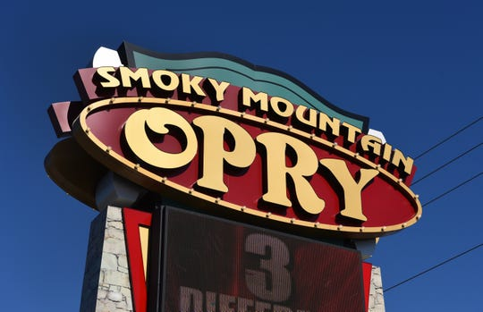 The sign for the Smoky Mountain Opry in Pigeon Forge.