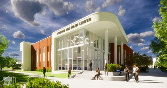A rendering of the science and math building at the Pellissippi State Community College Hardin Valley campus that was announced on Friday, Feb. 1, 2019