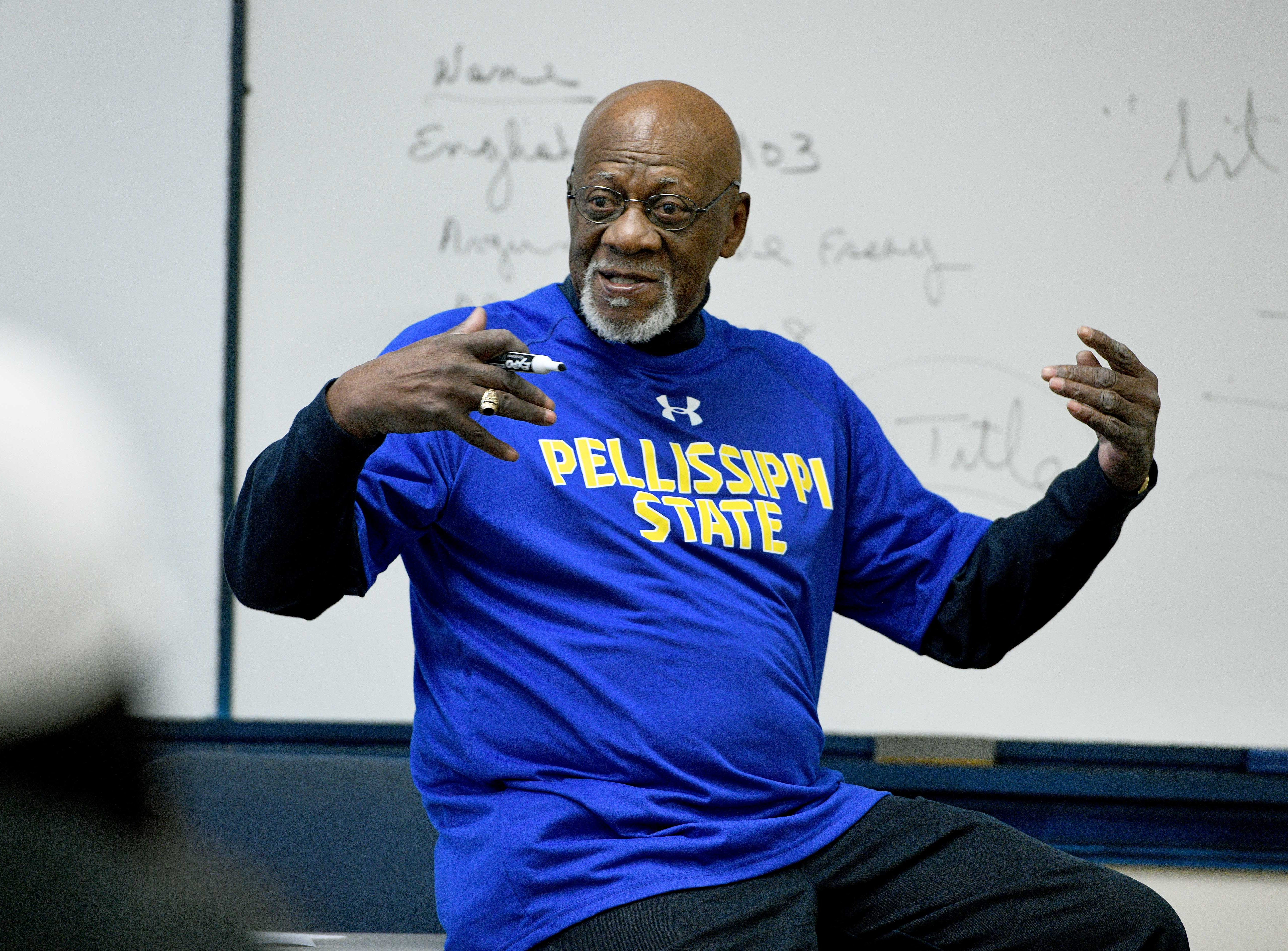 Eighty-three-year-old professor Robert Boyd is retiring from Pellissippi State Community College and teaching one of his last classes Wednesday, April 25, 2018.