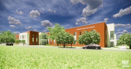 A rendering of the science and math building at the Pellissippi State Community College Hardin Valley campus that was announced on Friday, Feb. 1, 2019.