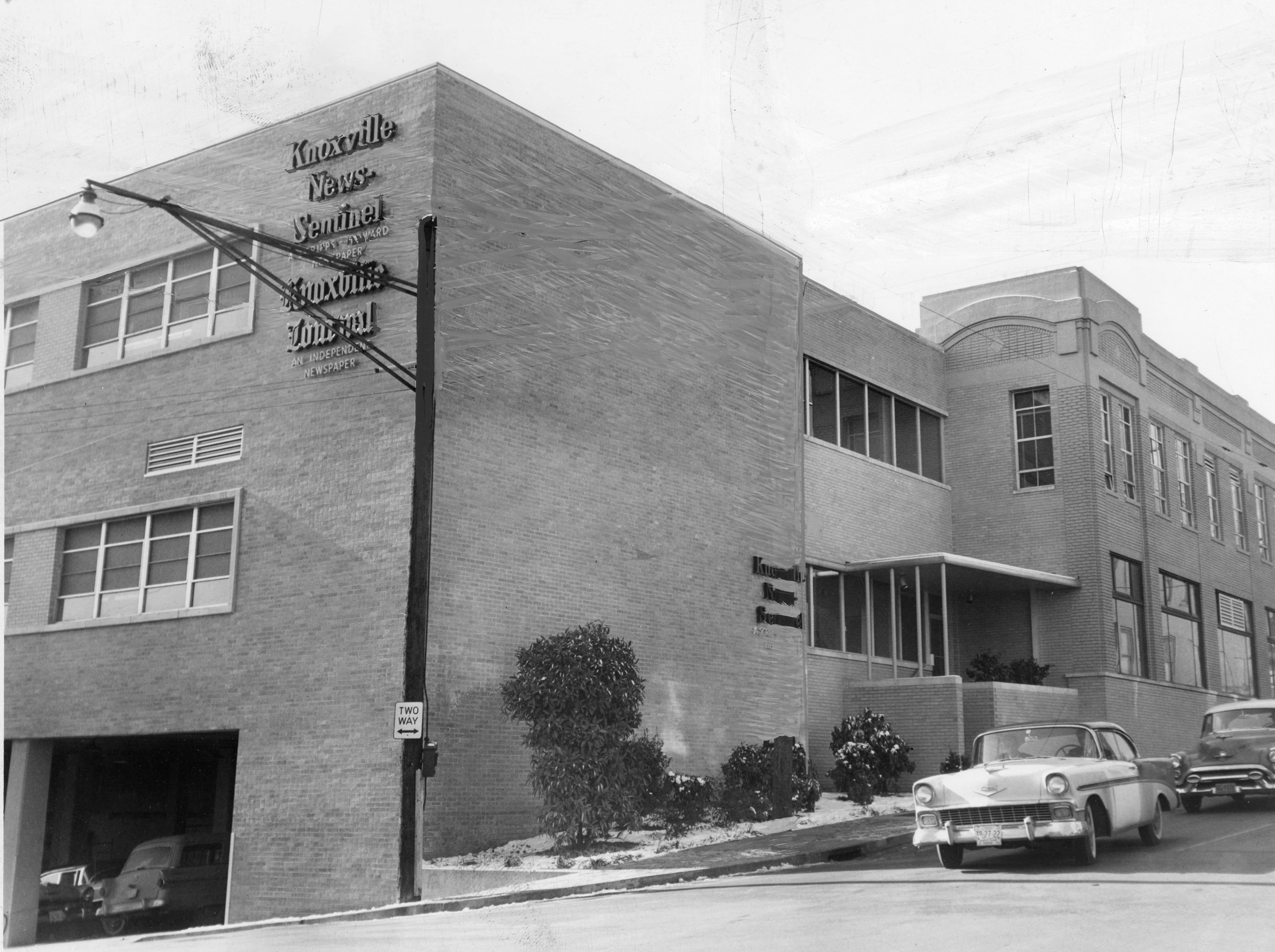 The Knoxville News Sentinel Building as seen in 1958.