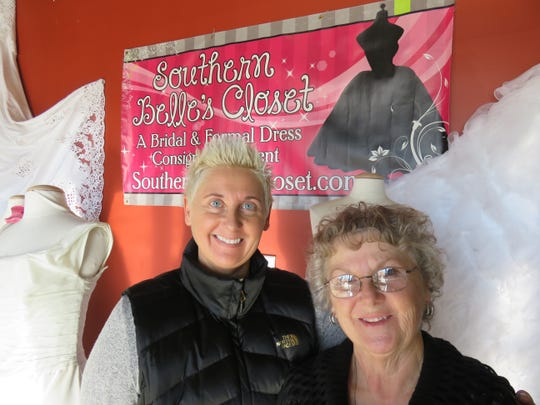 Joy Sabo, left, and her mother Janice, a former operator of the Cobweb Corner on Western Avenue, stand in the entrance area of Southern Belle's Closet on Jan. 30.