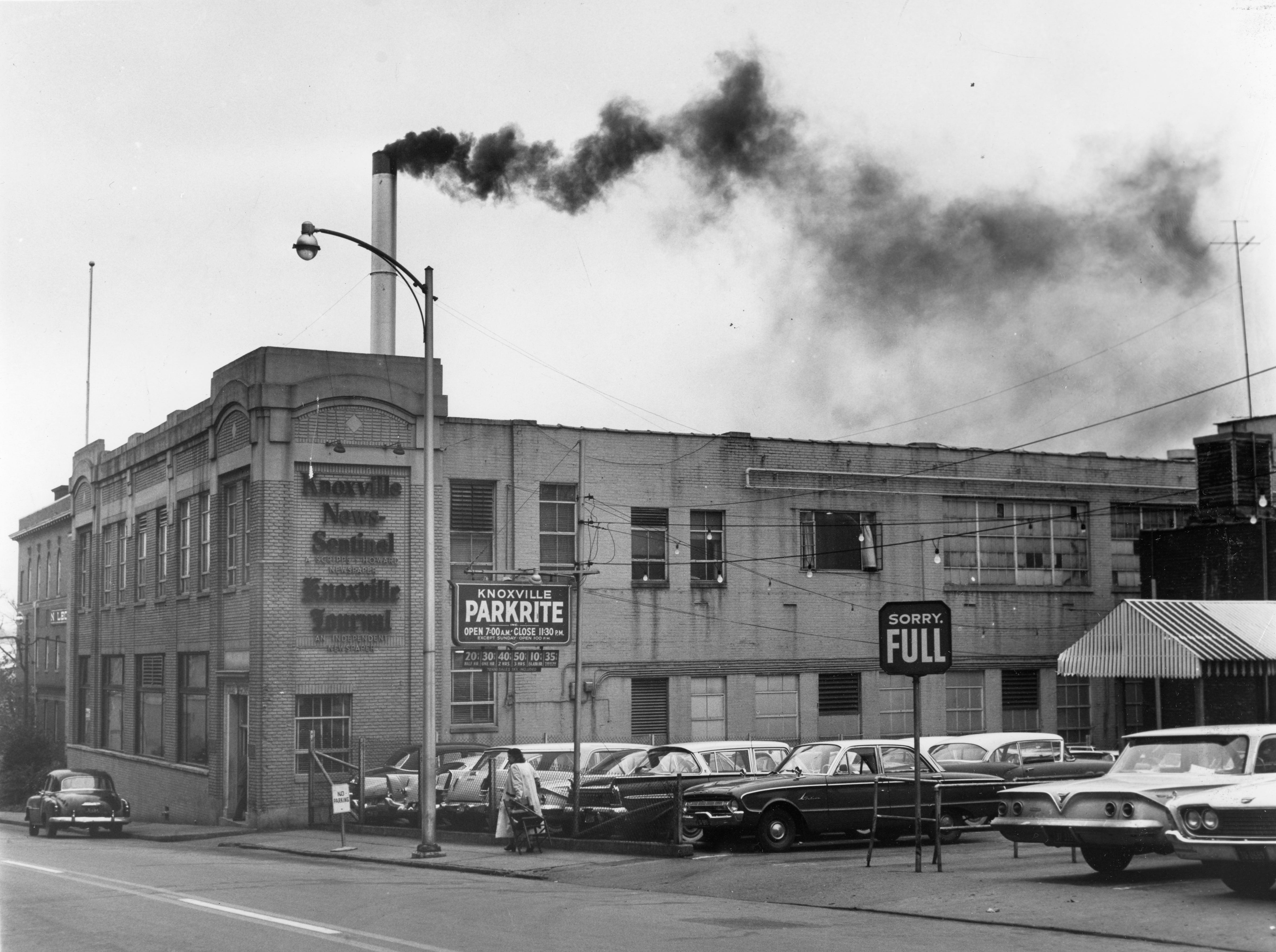 The Knoxville News Sentinel Building as seen in 1961.