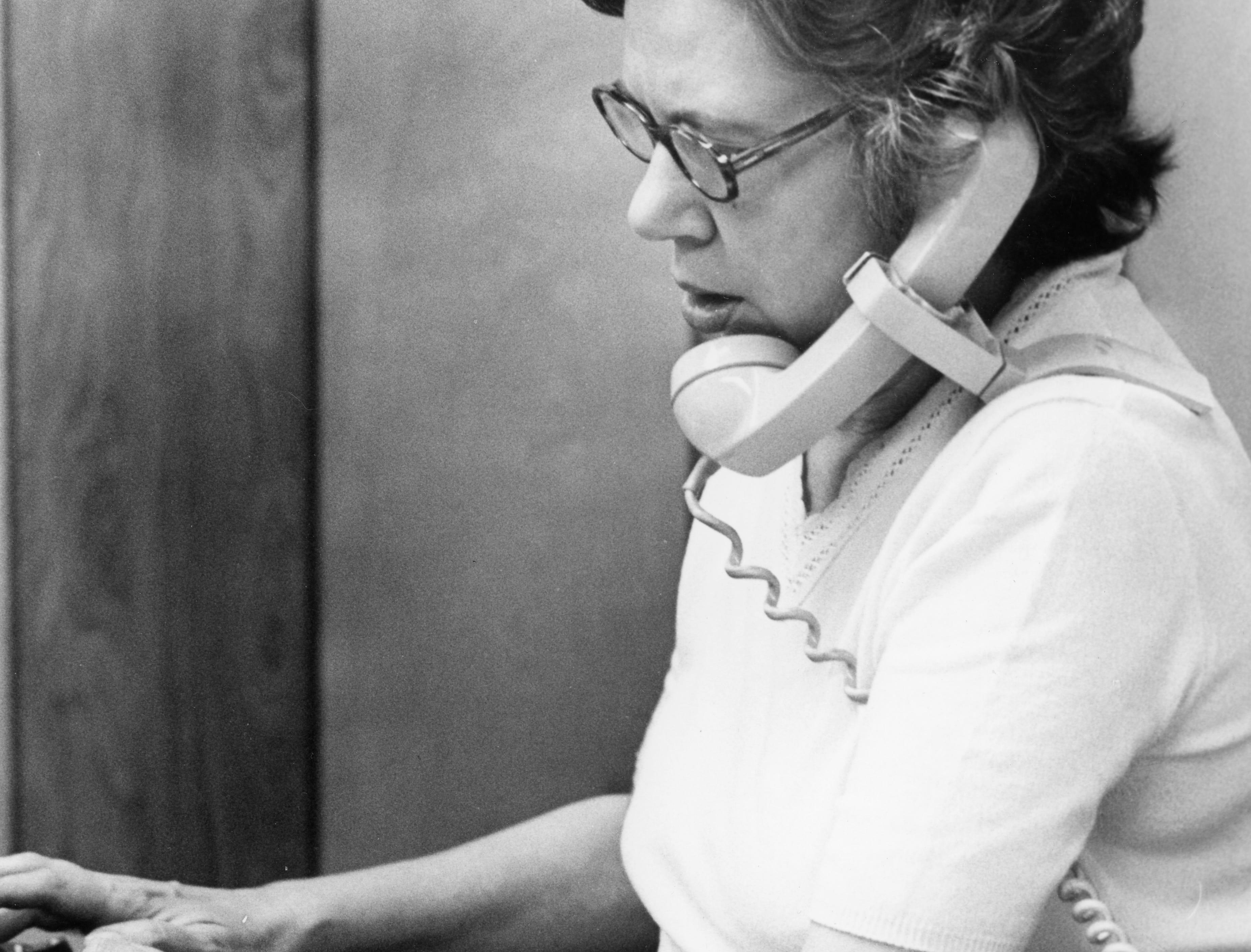 Betsy Morris, Women's Editor, 1977.