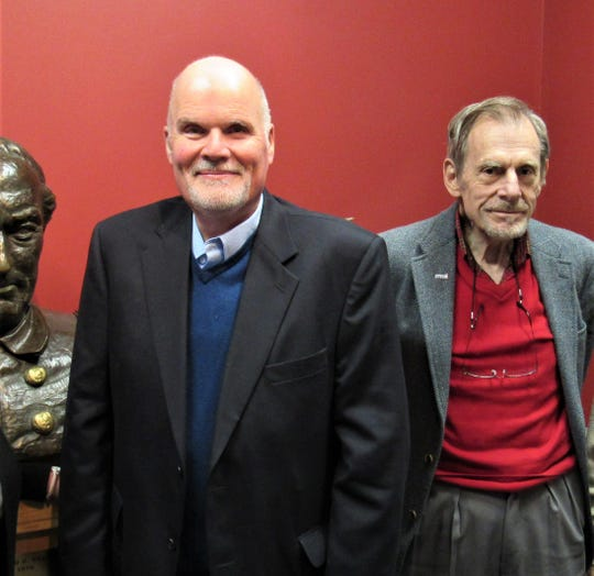 Steve Stow, right, worked with Keith McDaniel on oral histories in Oak Ridge before the two reconnected for the Farragut project.  Based on his qualifications, McDaniel was chosen from five applicants to create the documentary.