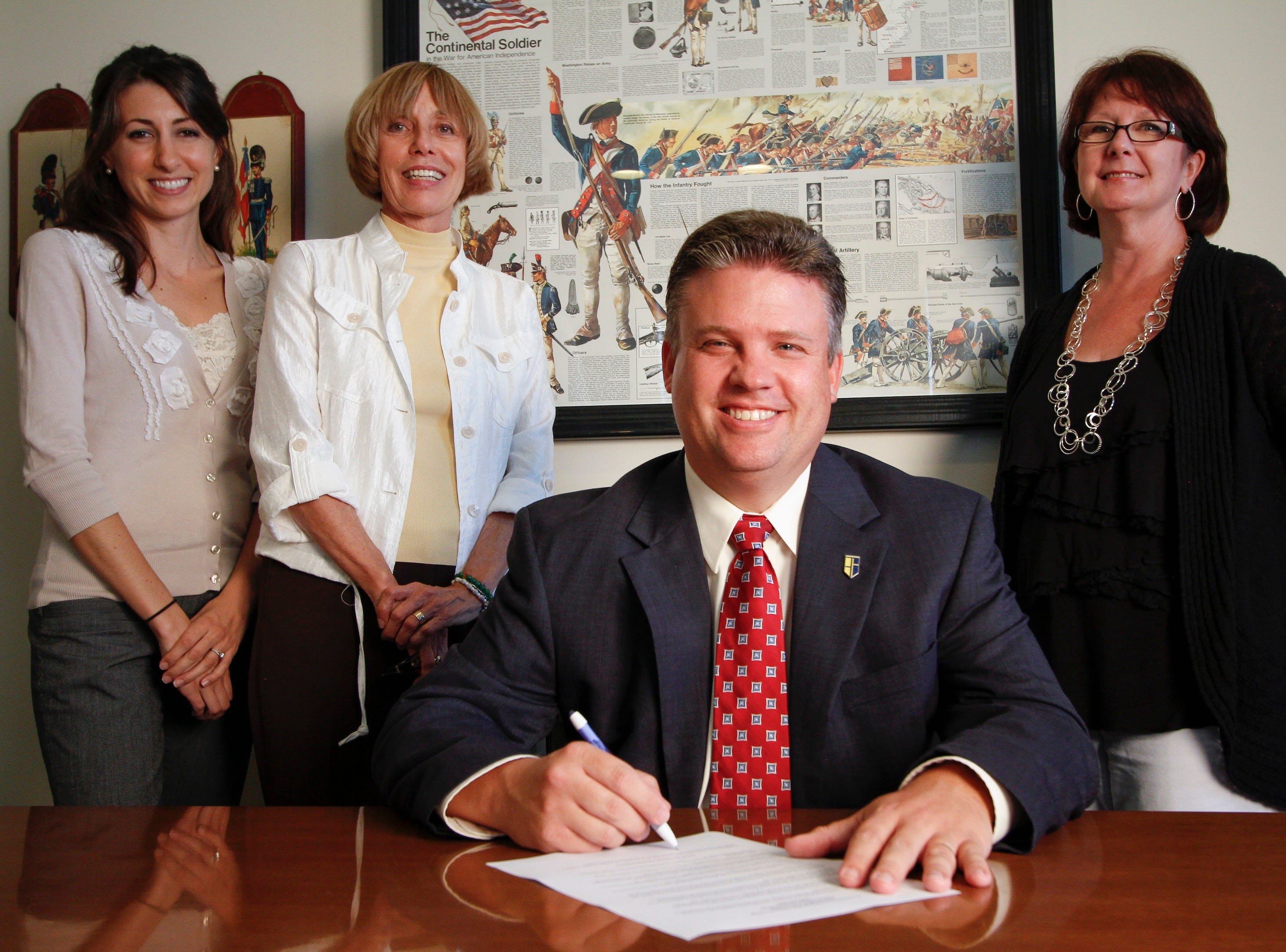 Contributed photoPellissippi State Community College President L. Anthony Wise Jr. signed a proclamation naming September as Suicide Prevention Awareness Month on all Pellissippi State campuses. Joining him, from left, are College counselors Lisa Orient, Elizabeth Firestone and Kathleen Douthat.