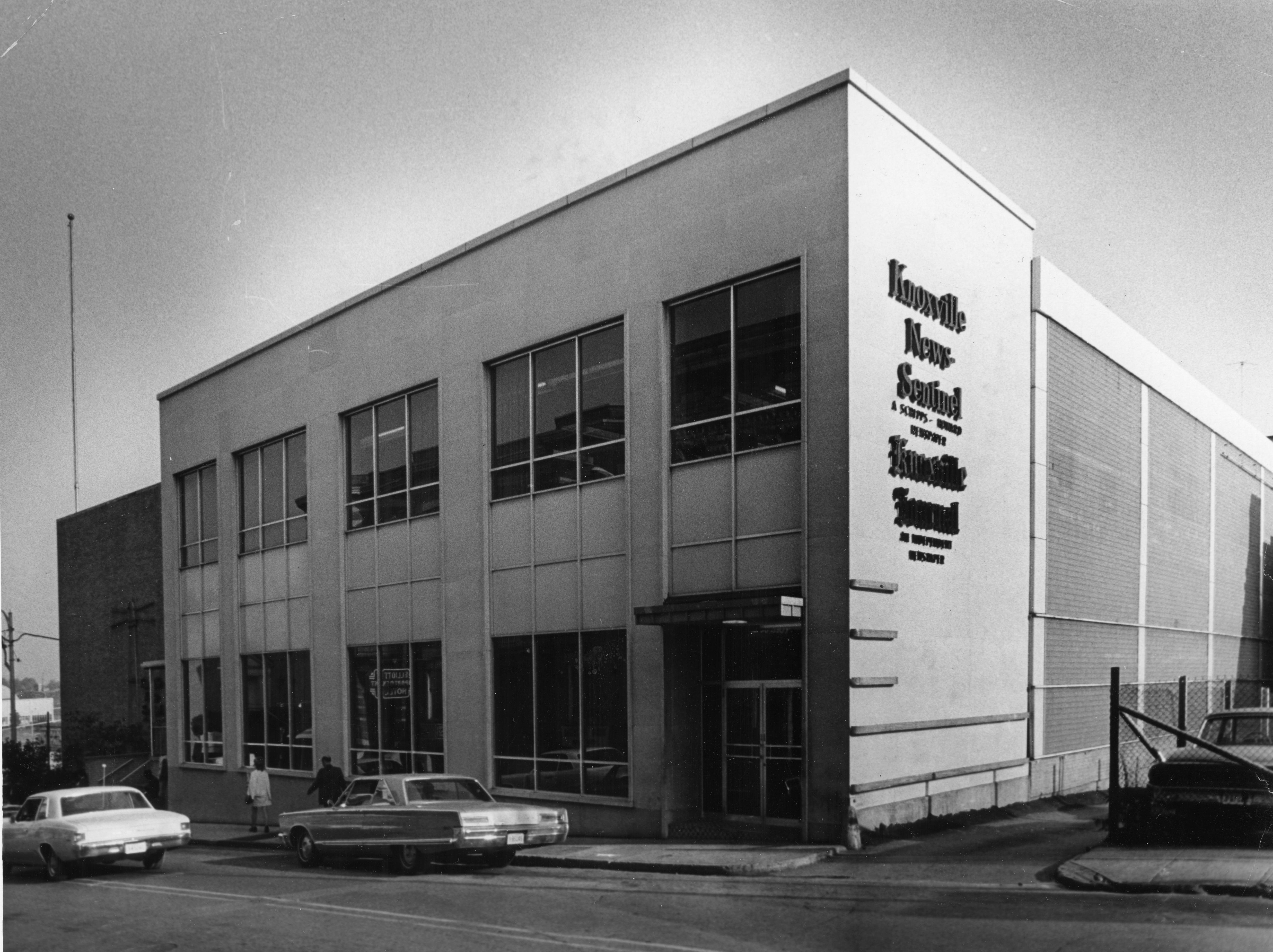 The Knoxville News Sentinel Building as seen in 1971.