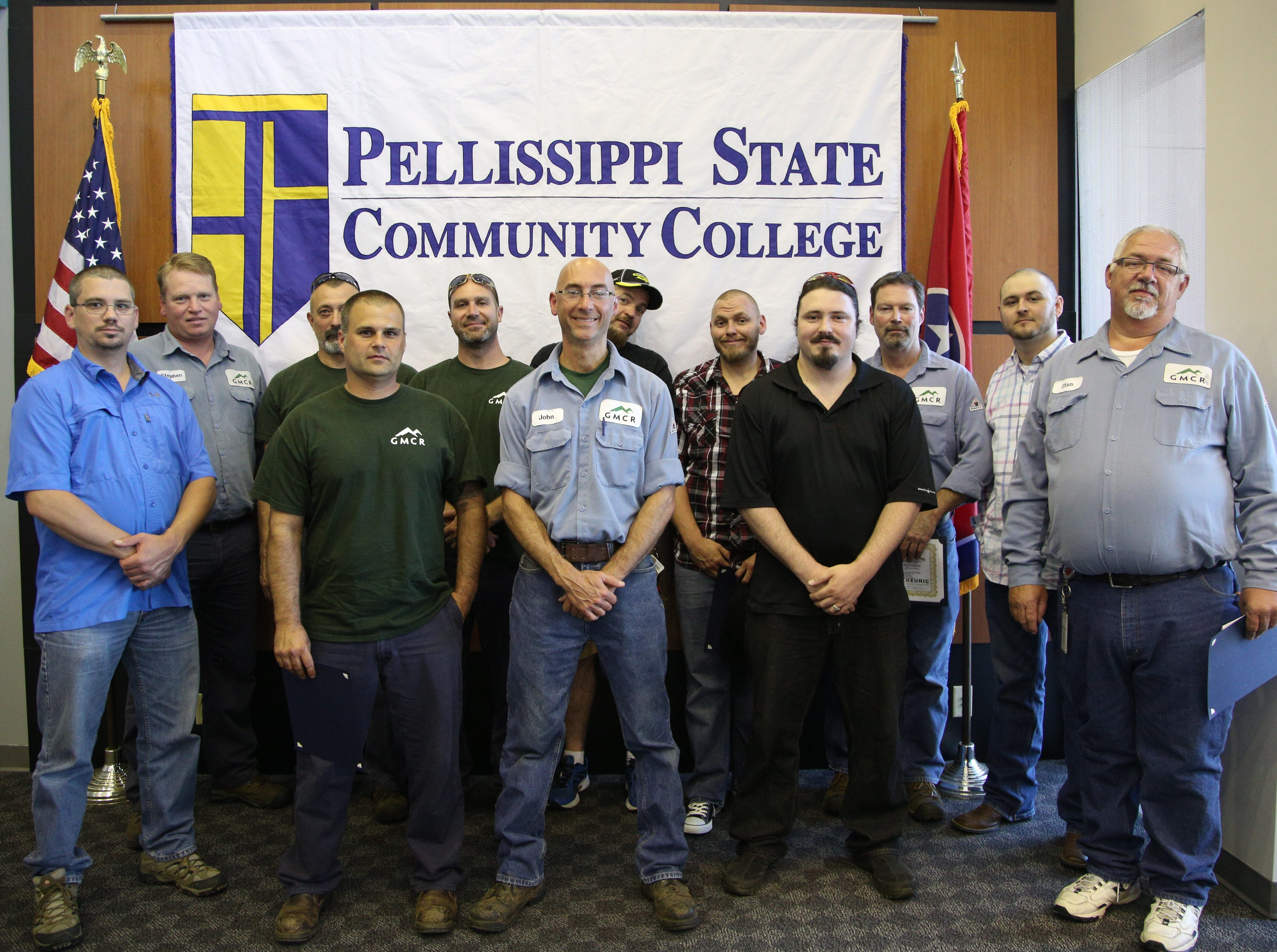 Keurig Green Mountain Inc. employees Kevin Anderson, Marshall Boyd, Stanley Burgin, Robert Coleman, John Fronczak, Damien Kerr, John LaForge, Tim Mabry, Daniel North, Teddy Phillips, Rodney Reynolds, Josh Sicotte, Stephen Strader and Jeremiah Williams completed an industry-specific workforce development program at Pellissippi State Community College. The short-term certificate program was designed to train Keurig Green Mountain Inc. employees to install, troubleshoot and maintain industrial electrical systems. The curriculum was built through partnerships between Pellissippi State's Engineering and Media Technologies department and Business and Community Services division with Keurig Green Mountain's continuous learning department.