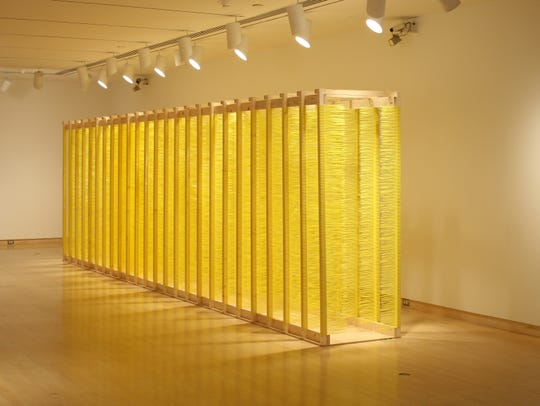 "Artist Brian Jobe created the interactive sculpture ""Turfside Passage"" for a 2011 contemporary art exhibit at the Knoxville Museum of Art."