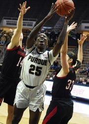 Scenes from Thursday's battle between the Purdue women and Nebraska. Tamara Farquhar.