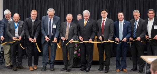 Officials from Purdue University cut the ribbon Wednesday on the Manufacturing Design Laboratory, a research space dedicated to the technology-driven future of manufacturing in Indiana and across the globe.