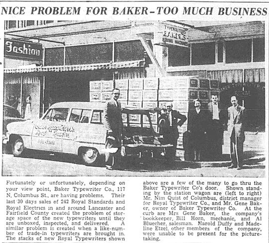 This article ran in the May 3, 1954 Lancaster Eagle-Gazette.