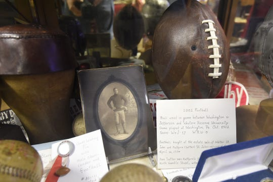 The Shelby Museum of History has an area dedicated to Charles Follis. He was the first black professional football player and played for the Shelby Blues in the early 1900s.