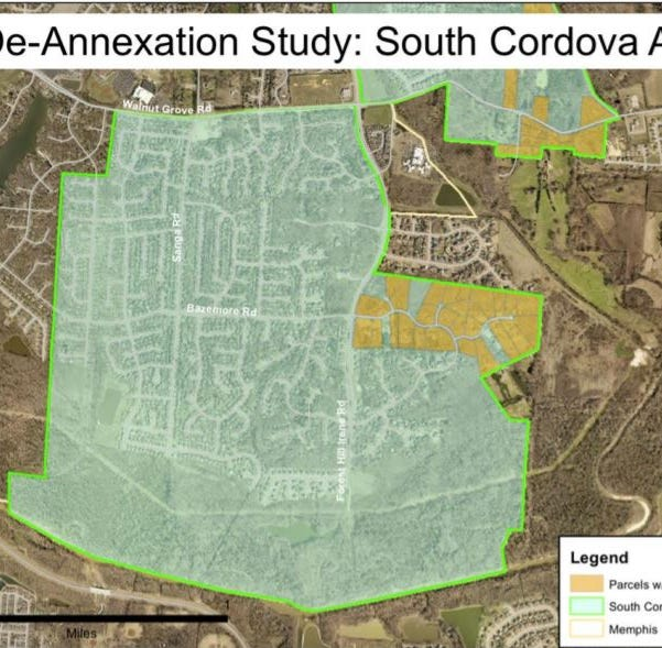 Memphis City Council OKs South Cordova de-annexation