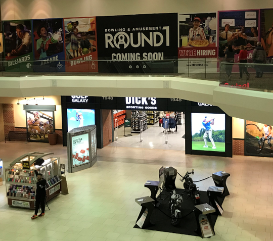 Round 1 bowling and amusement center is set to open Sunday on the upper level of the former Sears space st Southridge Mall.
