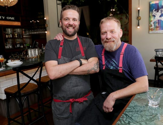 Chefs Dan Jacobs (left) and Dan Van Rite of Dandan, Fauntleroy and EsterEv restaurants are organizing a gala in March. The gala, which will have an all-star lineup of chefs from Wisconsin, Chicago and Denver, is a benefit for the Kennedy's Disease Association. Jacobs was diagnosed with the inherited neuromuscular disease in 2016.