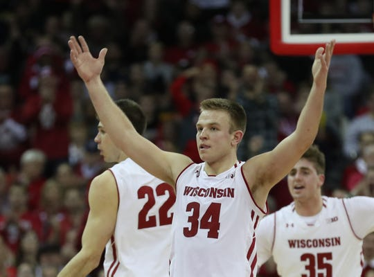 UW guard Brad Davison says the Badgers aren't focused on surpassing last season's victory total.