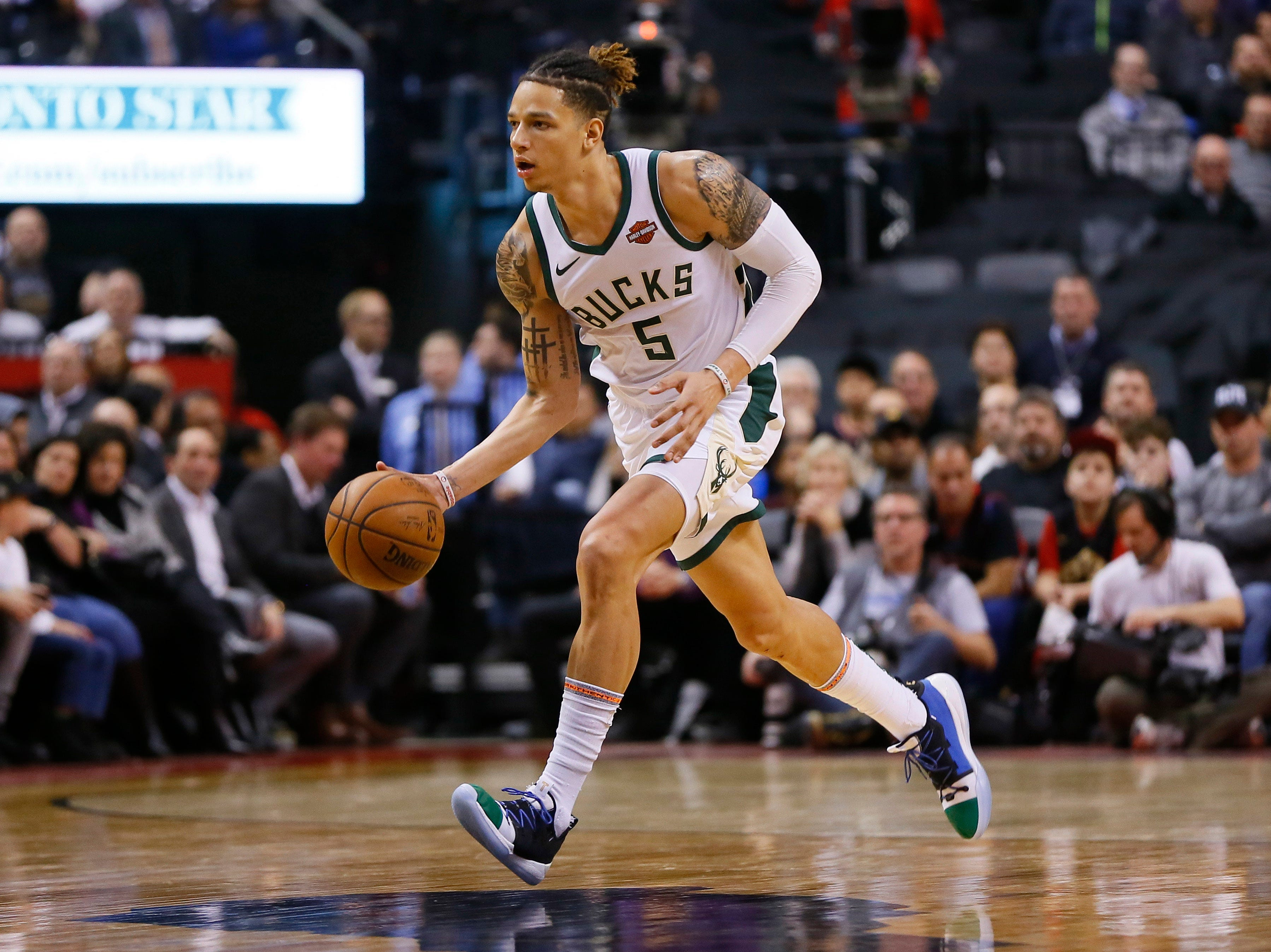 D.J. Wilson gave the Bucks a big boost off the bench in their victory over the Raptors as he second 16 points on Thursday night.