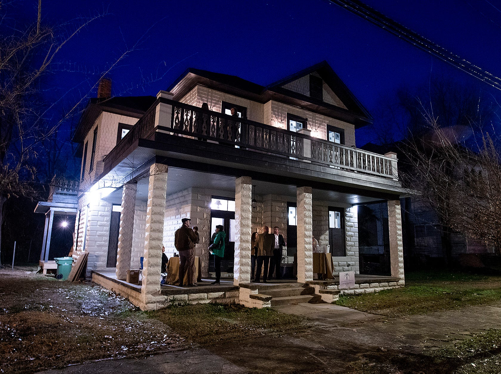 The home of the Hampton family on Goldthwaite St. in Montgomery, Ala., is opened for a Landmarks Foundation Renovators Open House on Thursday evening January 31, 2019.