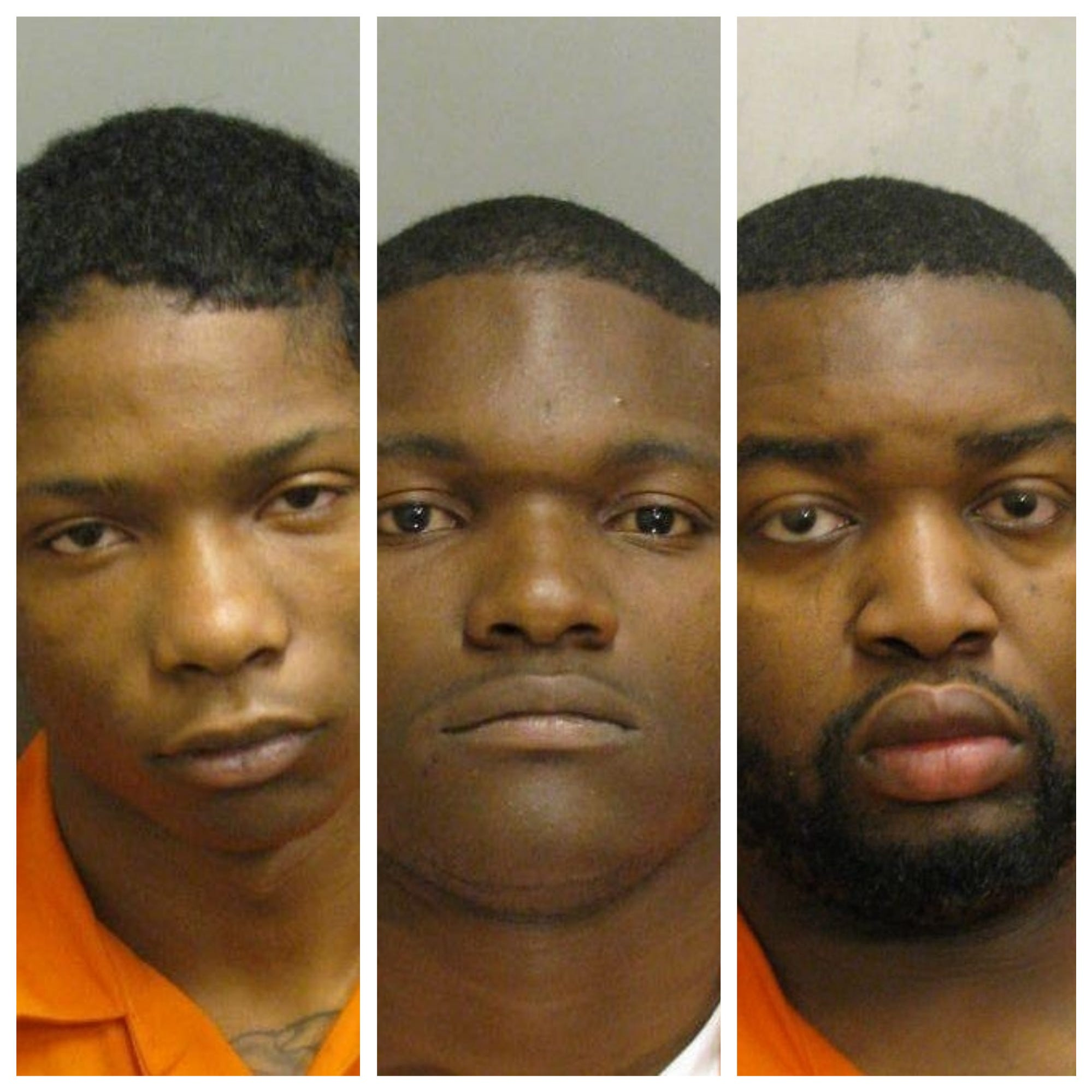 Three men charged in Wednesday night robbery