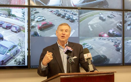 Montgomery Mayor Todd Strange unveils a new network of both private and public security cameras to better monitor crime across the city.