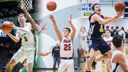 New Castle's Luke Bumbalough, Blackford's Luke Brown and Delta's Josh Bryan are among the state's top 12 scorers.