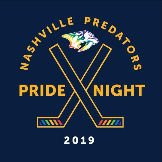 Nashville Predators 2019 Pride Night logo