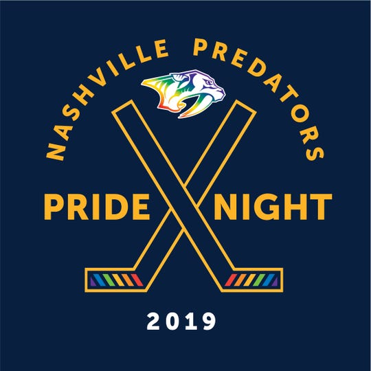 Nashville Predators 2019 Pride Night logo