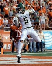 Baylor wide receiver Jalen Hurd (5) during the second half of an NCAA college football game, Saturday, Oct. 13, 2018, in Austin, Texas.