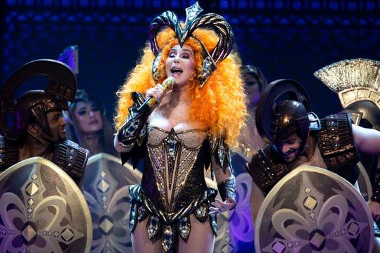 Cher performs during the Here We Go Again Tour at Bridgestone Arena in Nashville, Tenn., Thursday, Jan. 31, 2019.