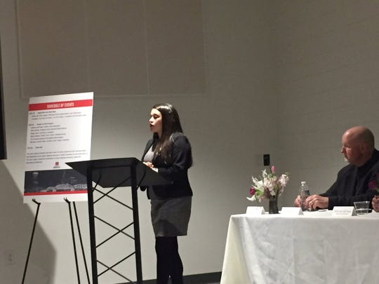 Davidson County Assistant District Attorney Sarah Wolfson spoke as part of a panel discussion on the topic hosted by the Junior League Nashville at Thistle Farms.