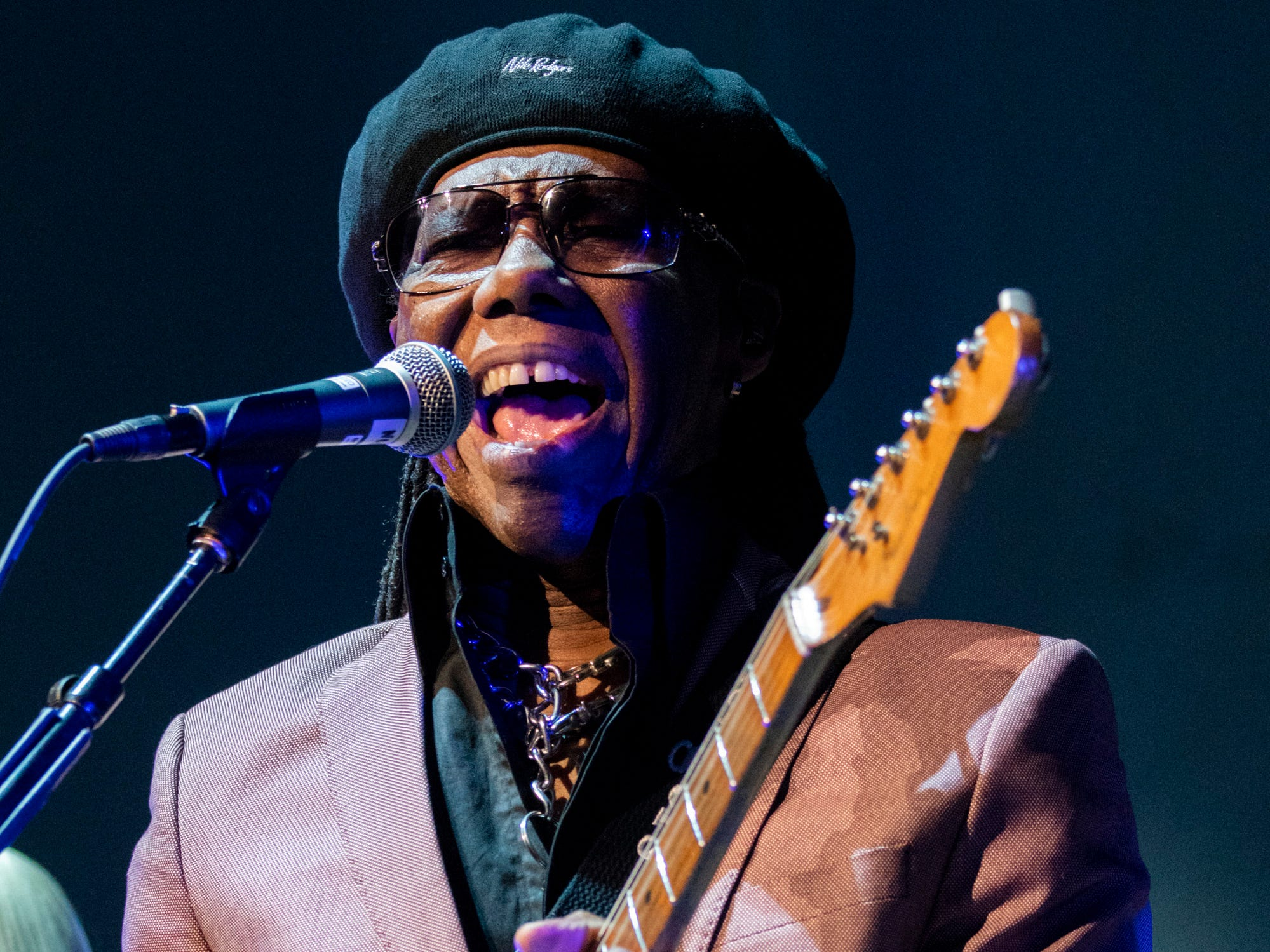Nile Rodgers and CHIC open up for Cher during the Here We Go Again Tour at Bridgestone Arena in Nashville, Tenn., Thursday, Jan. 31, 2019.