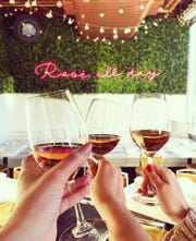 The Hampton Social will offer half-off bottles of Whispering Angel rosé on Valentine's Day.
