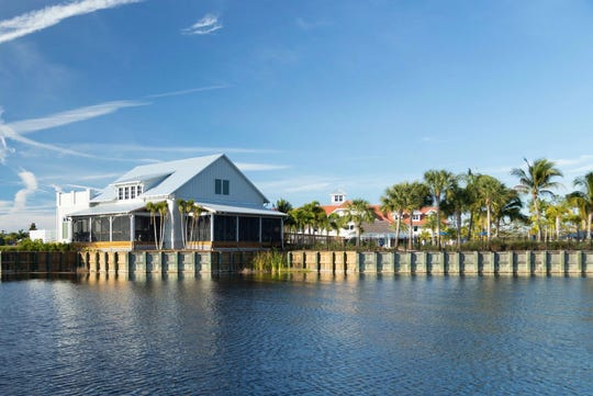 Overlook Bar & Grill at The Isles of Collier Preserve was inspired by Old Florida waterside bars.