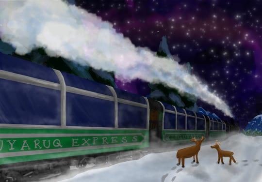 "Conceptual art for Eric Miller and team's the ""The Kiiguyaruq Express."""