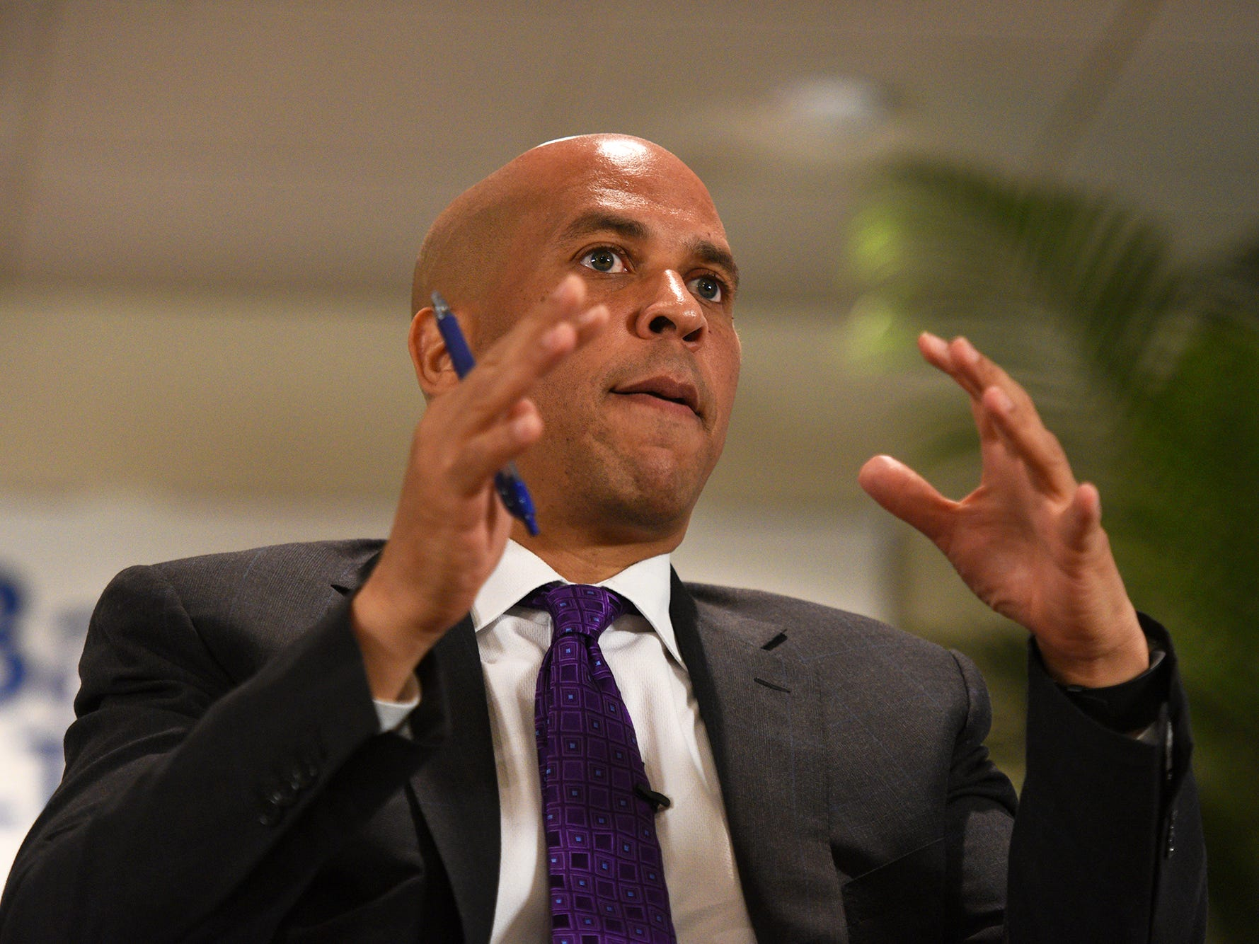 00021192A --- Livingston  -- Monday, August 8, 2016 -- NJ Senator Cory Booker was part of a panel of speakers during a forum on Heroin and Opioid Addiction Crisis held at St. Barnabas Medical Center on Monday. Also on the panel were U.S. Surgeon General, Dr. Vivek Murthy, VA Under Secretary for Health, Dr. David Shulkin, and NJ Senator Bob Menendez.