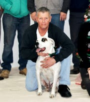 Robert Freudenberg and his pit bull, Popeye, were killed in a house fire in Wayne on Thursday.