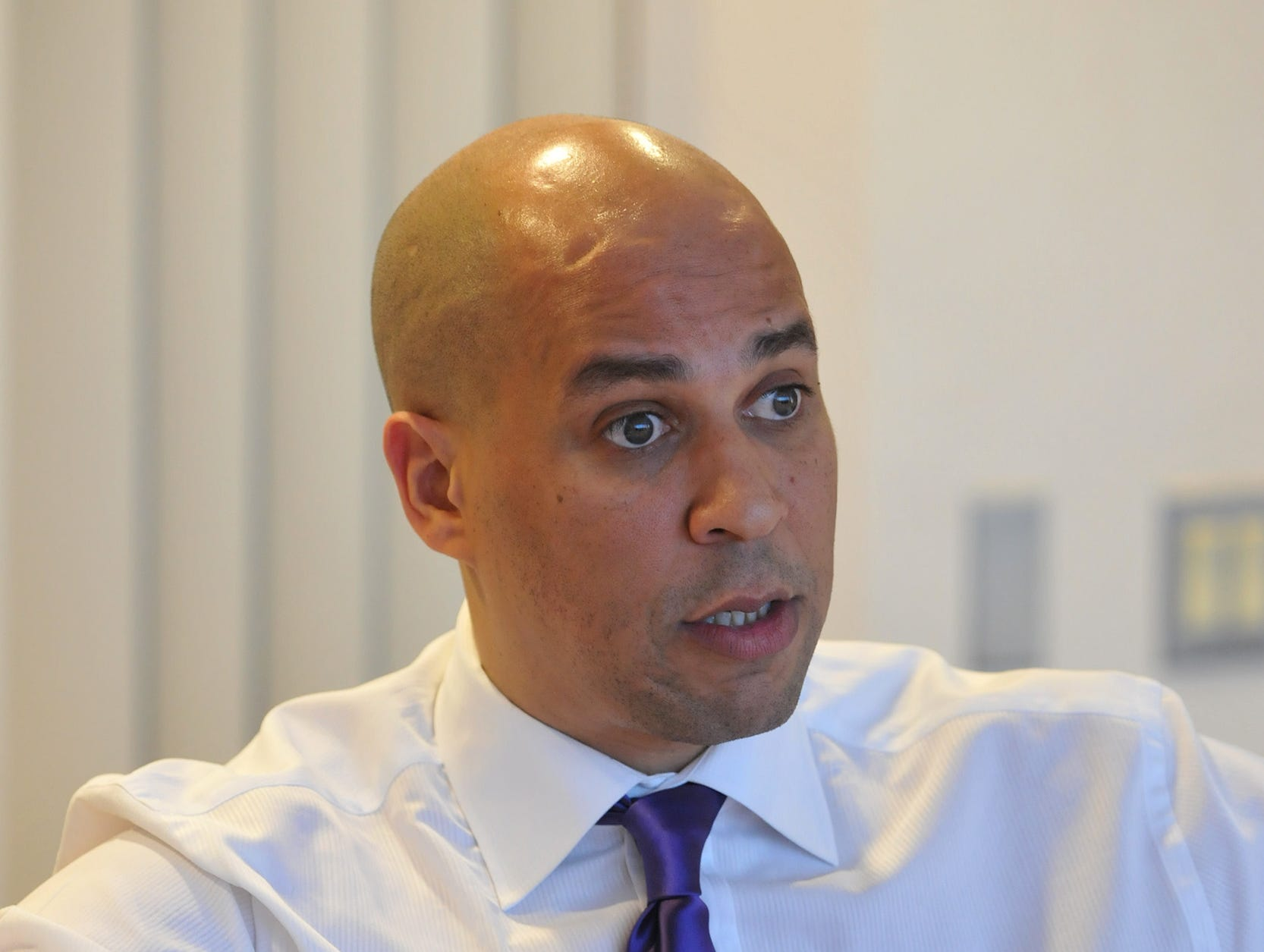 The Record Edit board meets with Newark Mayor Cory Booker  February 28, 2012
