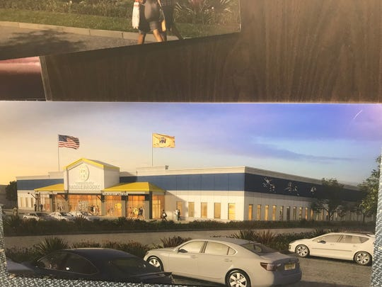 A rendering of what a new Saddle Brook municipal complex could look like.