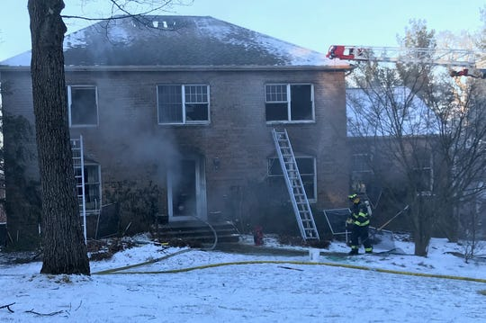 Firefighters respond to Oweno Place in Mahwah Jan. 31, 2019.